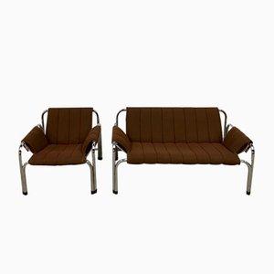 Vintage Modell T2403 Sofas von William Chlebo für Kodreta Myjava, 2er Set