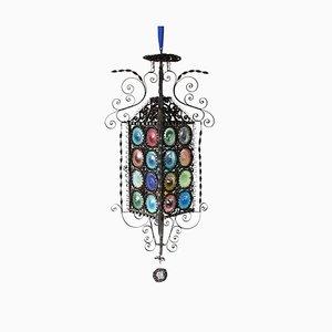 Antike venezianische Laterne aus Glas