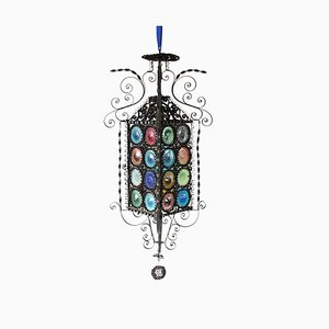 Antique Venetian Glass Lantern