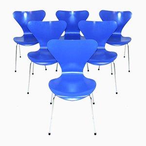 Modell 7 Esszimmerstühle von Arne Jacobsen für Fritz Hansen, 1994, 6er Set