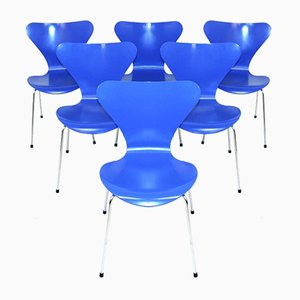 Sedie da pranzo modello 7 di Arne Jacobsen per Fritz Hansen, 1994, set di 6