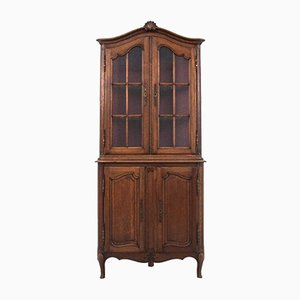 French Corner Cupboard or Showcase, 1930s