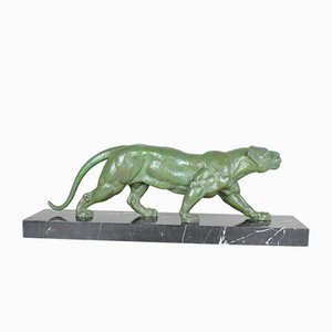 DH Chiparus, Panther Marchant, Metallskulptur, 20. Jahrhundert