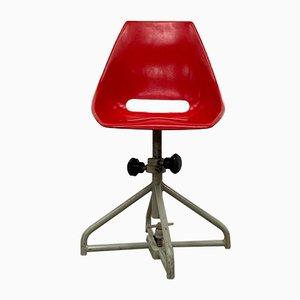 Sedia da scrivania regolabile di Miroslav Navratil per Vertex, anni '60