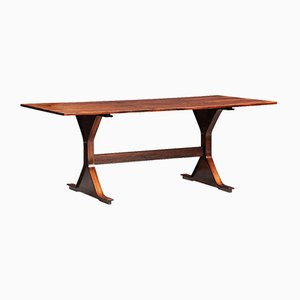 Mid-Century Model 522 Rosewood Dining Table by Gianfranco Frattini for Bernini