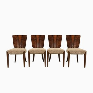 Model H-214 Dining Chairs by Jindřich Halabala for UP Závody, 1940s, Set of 4