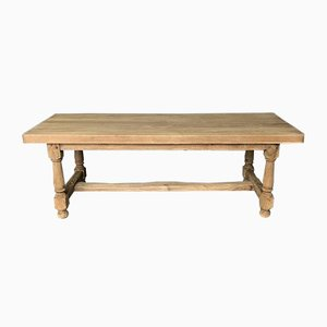 Bleached Oak French Farmhouse Refectory Dining Table