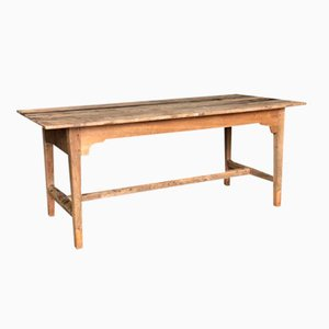 Antique Rustic Oak French Farmhouse Kitchen Dining Table