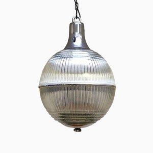 Lampada da soffitto sferica di Holophane, anni '60