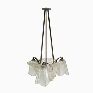 Vintage Art Deco Ceiling Lamp from Verrerie D'Art Degué