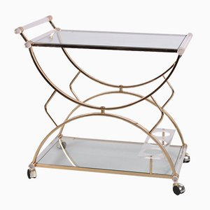 Hollywood Regency Style Perspex Drinks Trolley, 1970s