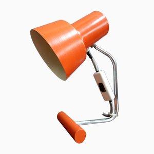 Lampe de Bureau Orange Modèle 85 133 par Josef Hurka pour Napako, 1970s
