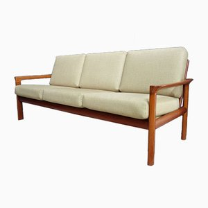 Danish Model Borneo Teak 3-Seater Sofa by Sven Ellekaer for Komfort, 1960s
