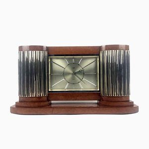 Art Deco Tischuhr von Mautre, 1950er