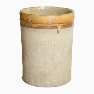 Antique Italian Ceramic Cylinder