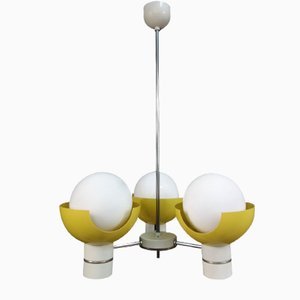 Yellow and White Model 81339 Ceiling Lamp by Josef Hurka for Napako, 1960s