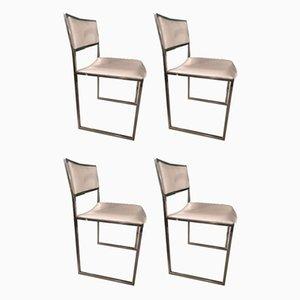 Vintage Esszimmerstühle von Willy Rizzo für Mario Sabot, 4er Set