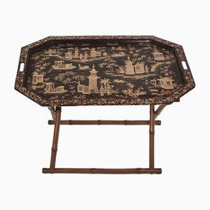 Spanish Chinoiserie Folding Tray Table. 1960s