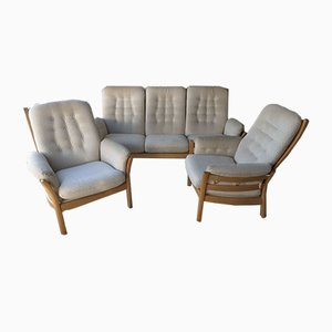 3-Seater Sofa & 2 Armchairs from Ercol, 1980s, Set of 3
