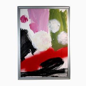 Abstract Acrylic on Cardboard.