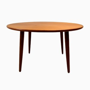 Danish Round Teak Coffee Table, 1960s