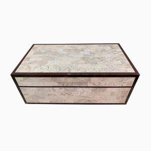 Box aus Marmor, Holz & Messing von Maitland Smith, 1970er