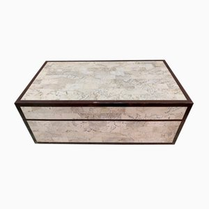 Marble, Wood and Brass Box from Maitland Smith, 1970s