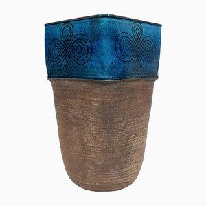 Glasierte Steingut Vase von Nils Kähler für Kähler, 1960er