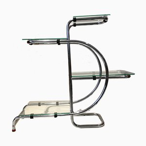 Art Deco Glass & Steel Shelf, 1930s