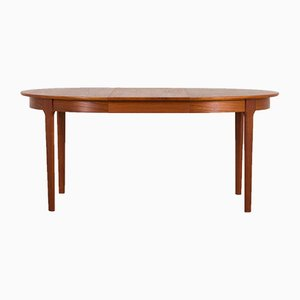 Teak Extendable Round Dining Table from C.J. Rosengaarden, 1960s