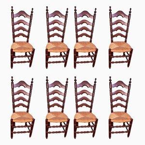 Beistellstühle, 1940er, 8er Set