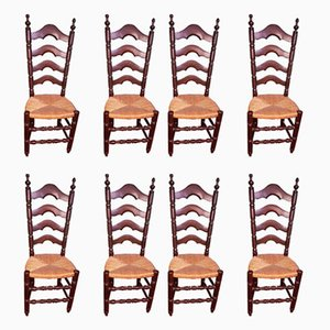 Side Chairs, 1940s, Set of 8