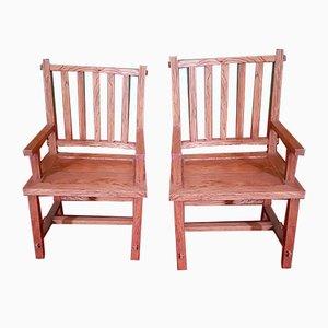 Mid-Century Teak Lounge Chairs, Set of 2
