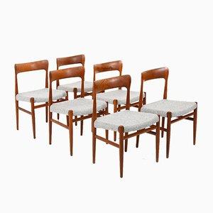 Dänische Teak Esszimmerstühle, 1950er, 6er Set