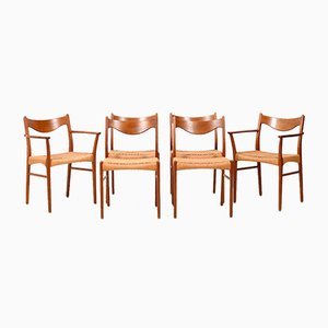 Dining Chairs by Arne Wahl Iversen for Glyngøre Stolefabrik, 1960s, Set of 6