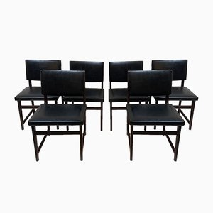 Black Chairs, 1960s, Set of 6