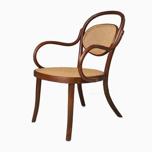 Bentwood and Rattan Nursing Armchair, 1930s