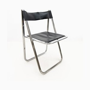 Model Tamara Leather Folding Chair from Arrben, 1970s