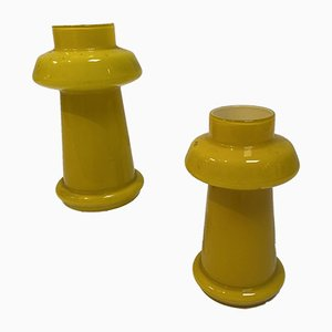 Yellow Lamps, 1970s, Set of 2