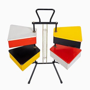 Colorful Sewing Box by Joost Teders for Metalux, 1956