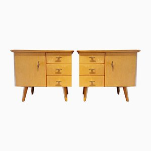 German Nightstands, 1950s, Set of 2