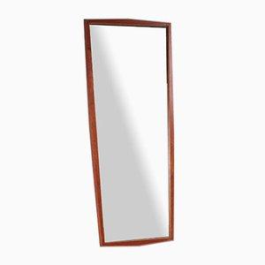 Großer Dänischer Verlängerbarer Vintage Spiegel aus Teakholz