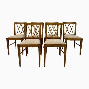 Sedie da pranzo di Paolo Buffa, Italia, anni '40, set di 6