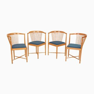 Armchairs by Børge Mogensen for Søborg Møbelfabrik, 1970s, Set of 4