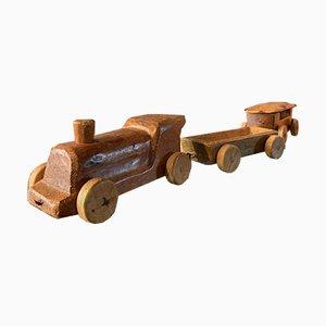 Train avec Deux Wagons par Antonio Vitali