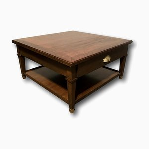 Walnut and Brass Coffee Table from H. Equy, 1920s