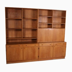 Vintage Scandinavian Oak Wall Unit
