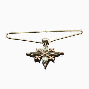 Blumen-Halskette-Halsketten-Anhänger von Tipico für Jutta Trenker, 1980s