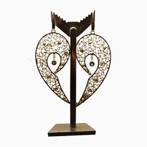 Grandes Boucles d'Oreilles Angel Wings en Argent 925 par Tipico pour Jutta Trenker, Set de 2