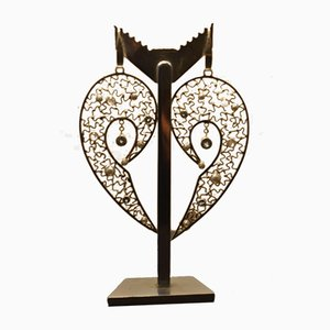 Große Silber 925 Ohrringe mit Engelsflügeln von Tipico für Jutta Trenker, 2er Set